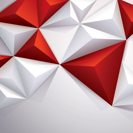 construction background: Red and white geometric background