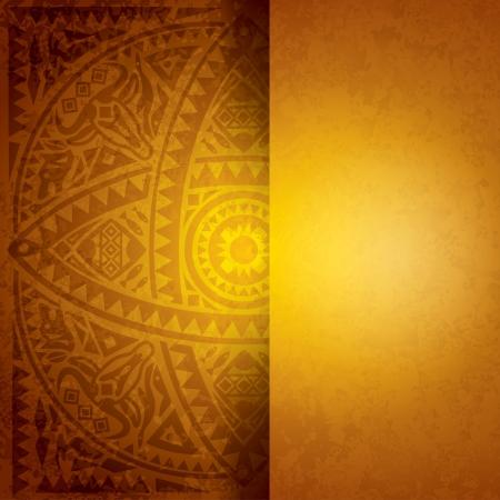 カバー デザインのアフリカの芸術の背景  イラスト・ベクター素材