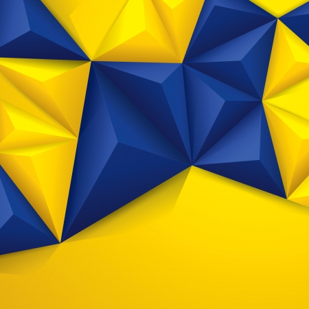 Blue and yellow geometric background