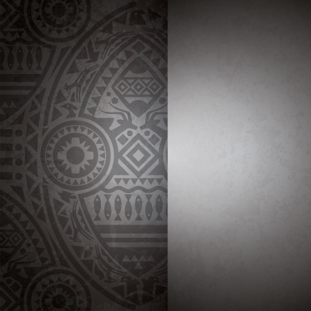 African art background for cover design  Vector