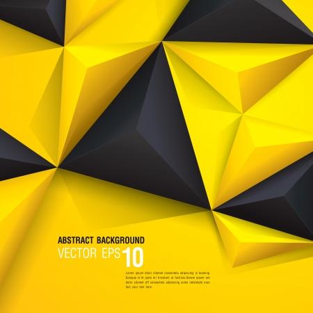 黒と黄色の幾何学的な背景