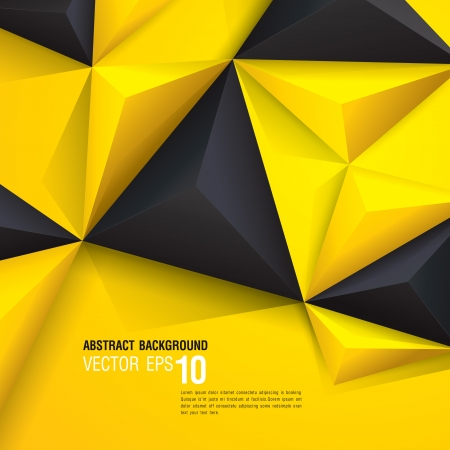 Black and yellow geometric background  Ilustração