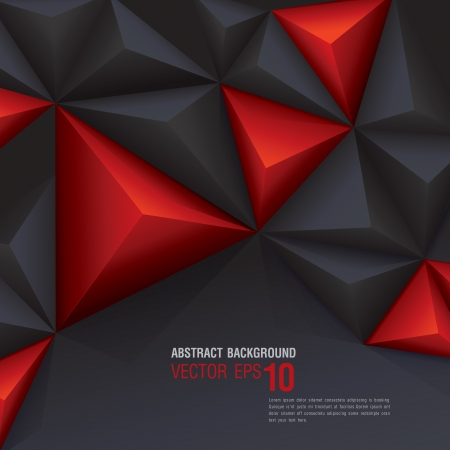 Black and red geometric background  Vector