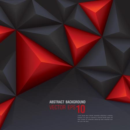 Fond géométrique noir et rouge Banque d'images - 24168862