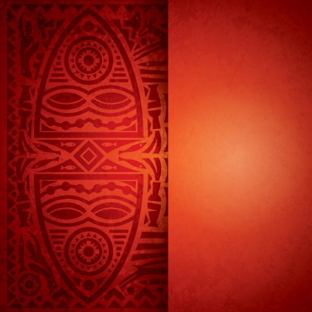 African art background for cover design