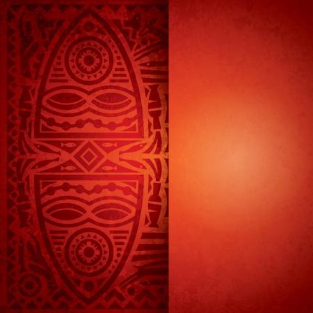 ilustraciones africanas: Fondo de arte africano para el dise�o de la cubierta