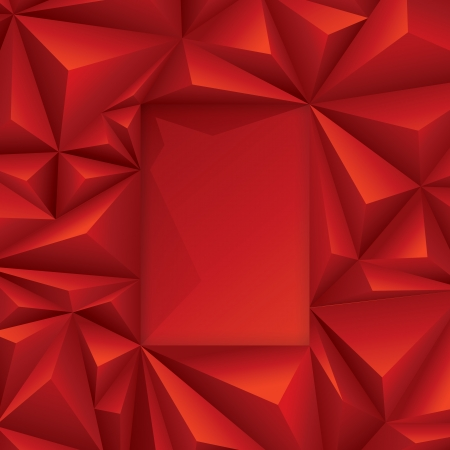 Red geometric background  Vector