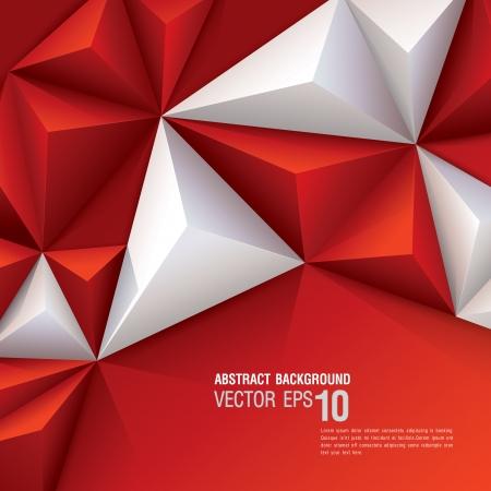 Rode en witte geometrische achtergrond Stock Illustratie