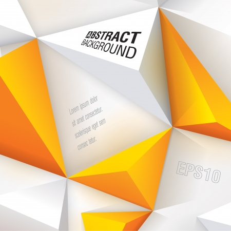 leaflet design: White and yellow geometric background