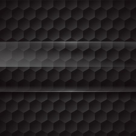 hexagons: Vector metal background