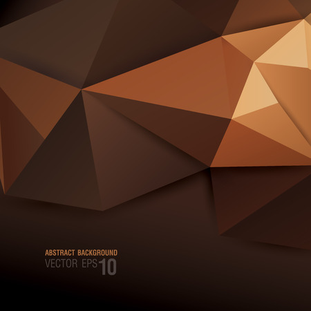 Brown geometric background  Vector