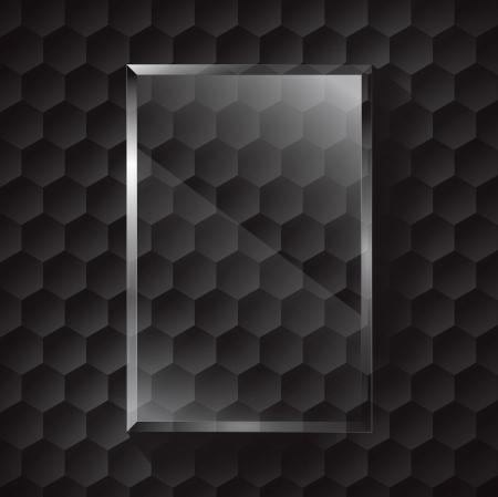 metal noir: m�tal noir et verre Illustration