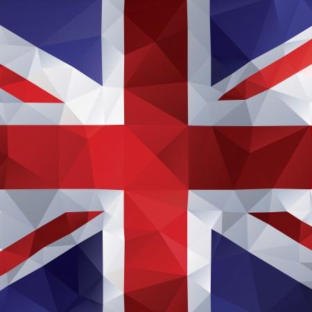 british flag: United kingdom flag in polygonal design