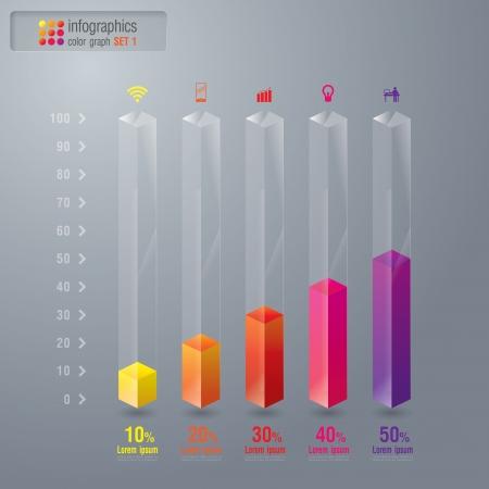 bar chart: Infographics design template Illustration