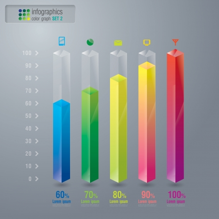 graph report: Infographics design template Illustration