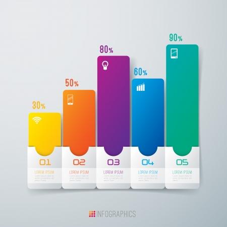 bar graph: Infographics design template Illustration