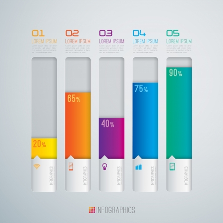percentage: Infographics design template Illustration