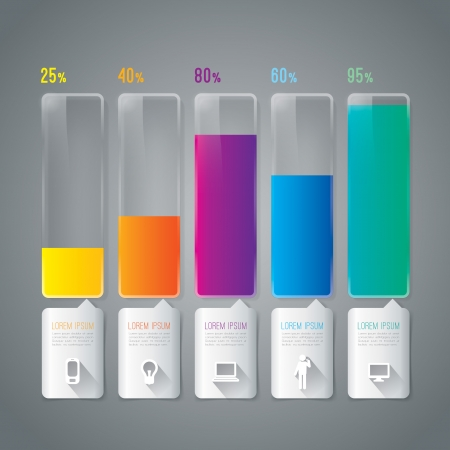 bar charts: Infographics design template Illustration