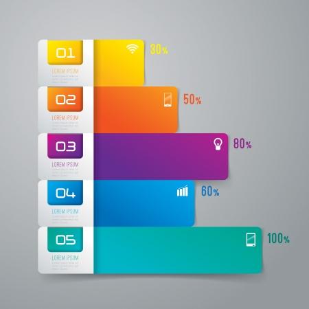 Infographies modèle de conception Banque d'images - 25406209