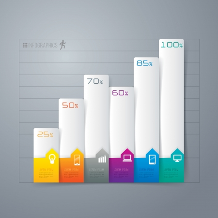 graph trend: Infographics design template Illustration