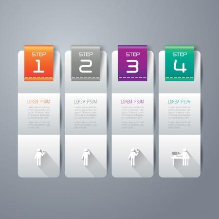 インフォ グラフィックのデザイン テンプレート  イラスト・ベクター素材