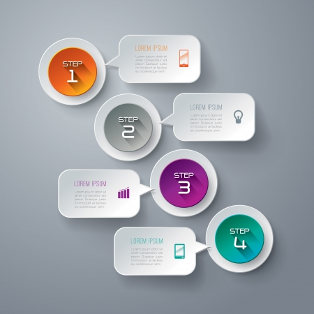 web pages: Infographics design template Illustration