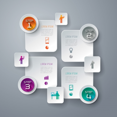 graphic tablet: Infographics design template Illustration
