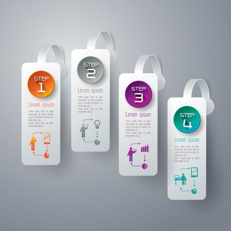 wobbler: Infographics design template Illustration
