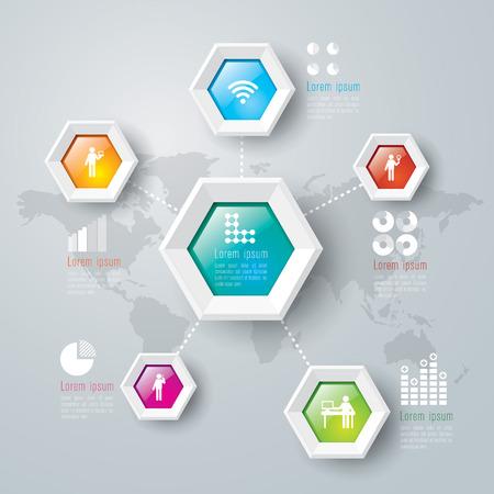 Infografik Design-Vorlage Illustration