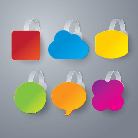 wobbler: Vector color wobbler set on gray background