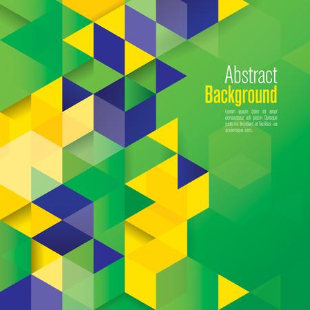mértan: Vektor geometriai háttér Brazil zászló koncepció Illusztráció