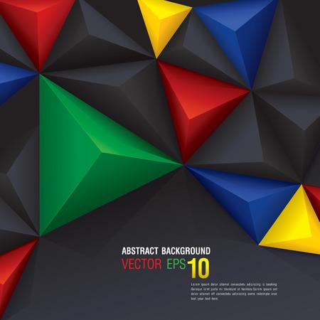 fondo geometrico: Vector fondo geom�trico en Sud�frica bandera concepto Vectores