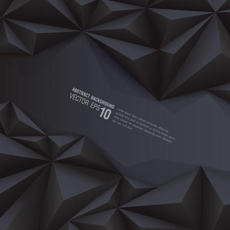 Fond géométrique fond noir polygonale