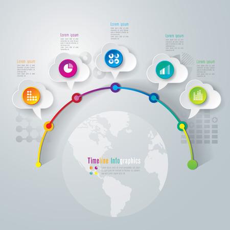Infografiken Timeline-Design-Vorlage