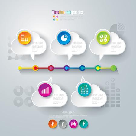 Timeline infographics design template Stock Vector - 26752653
