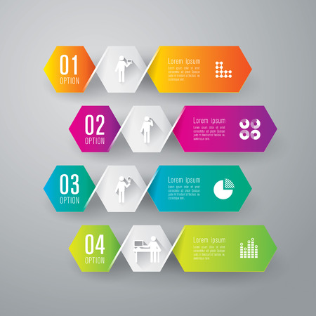 creative design: Infographics design template Illustration