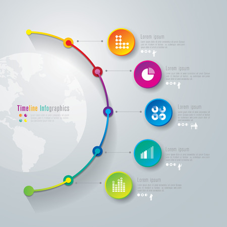 info business: Timeline infographics design template Illustration