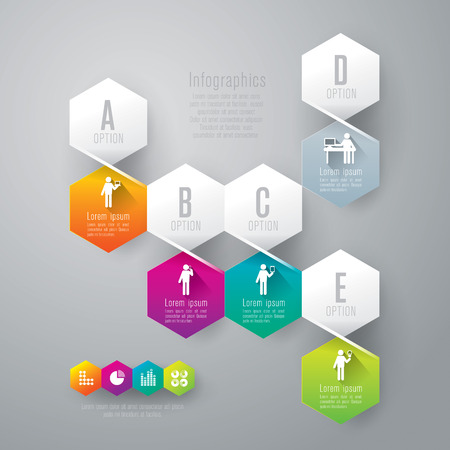 Infographics design template Stock Vector - 26752657