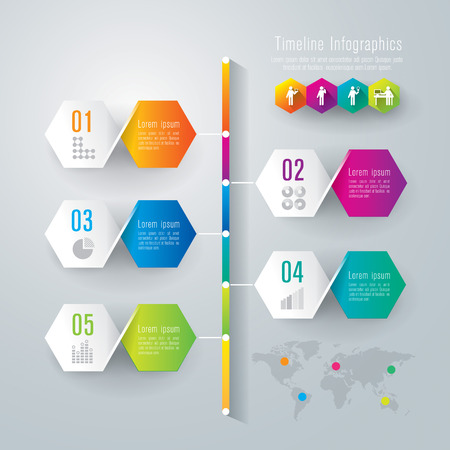 Timeline infographics design template Stock Vector - 26752660
