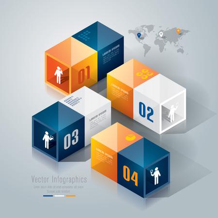 Infographics design template Stock Vector - 26752665