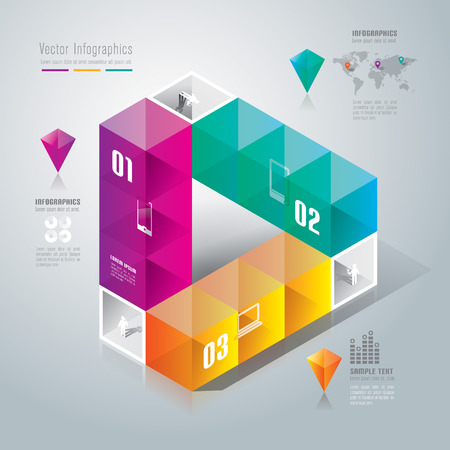 Infographics design template Stock Vector - 26752658
