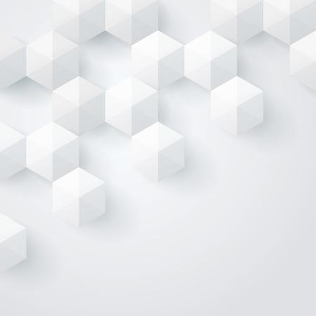 geometria: Fondo de geometr�a Blanco Vector de fondo