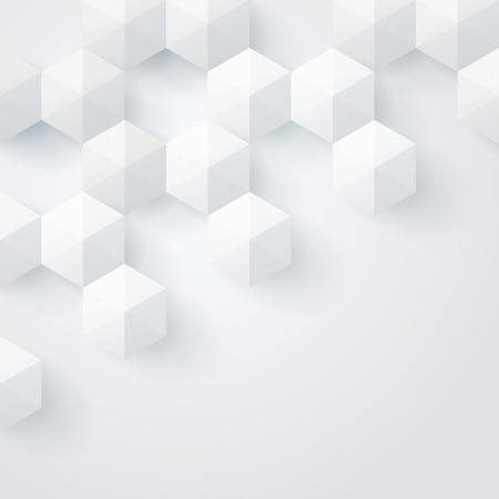White geometry background  Vector background