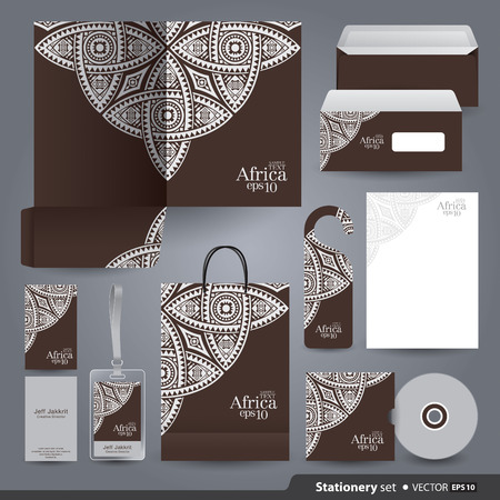 Stationery template design  Vectores