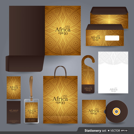 stationary: Stationery template design  Illustration