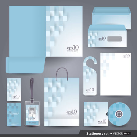 stationary set: Stationery template design  Illustration