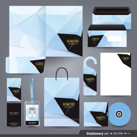 papírnictví: Design papírnictví šablona Ilustrace