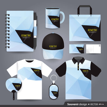 polo t shirt: Gift set template, Corporate identity design