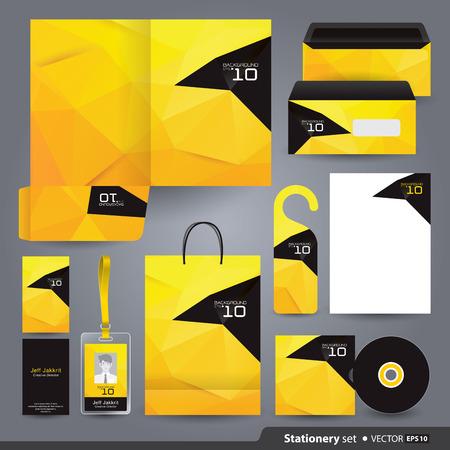 Stationery template design Vetores