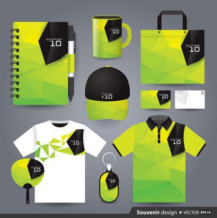Plantilla de conjunto de regalos, diseño de identidad corporativa